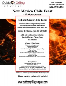 New Mexico Chile Feast Menu