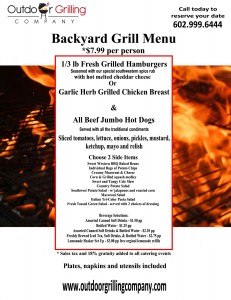 OGC Bckyard Grill Menu