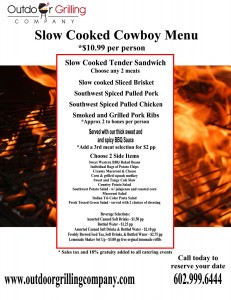 Slow Cooked Cowboy Menu
