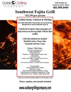 Southwest Fajita Grill Menu
